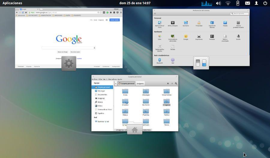 Elementary OS vista de ventanas